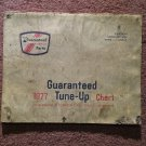 Vintage 1977 Guaranteed Tune Up Chart, Iginition and Carb Wire and cable Original 070716116