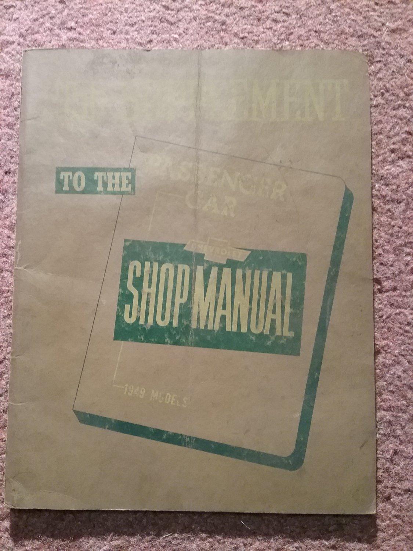 Vintage 1950 Supplement to the 1949 Passenger Car Shop Manual 070716117