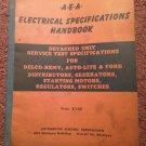 Vintage 1950 A EA Electrical Specifications Handbook 070716126