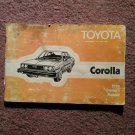 1980 Toytoa Corolla Owners manual 070716131