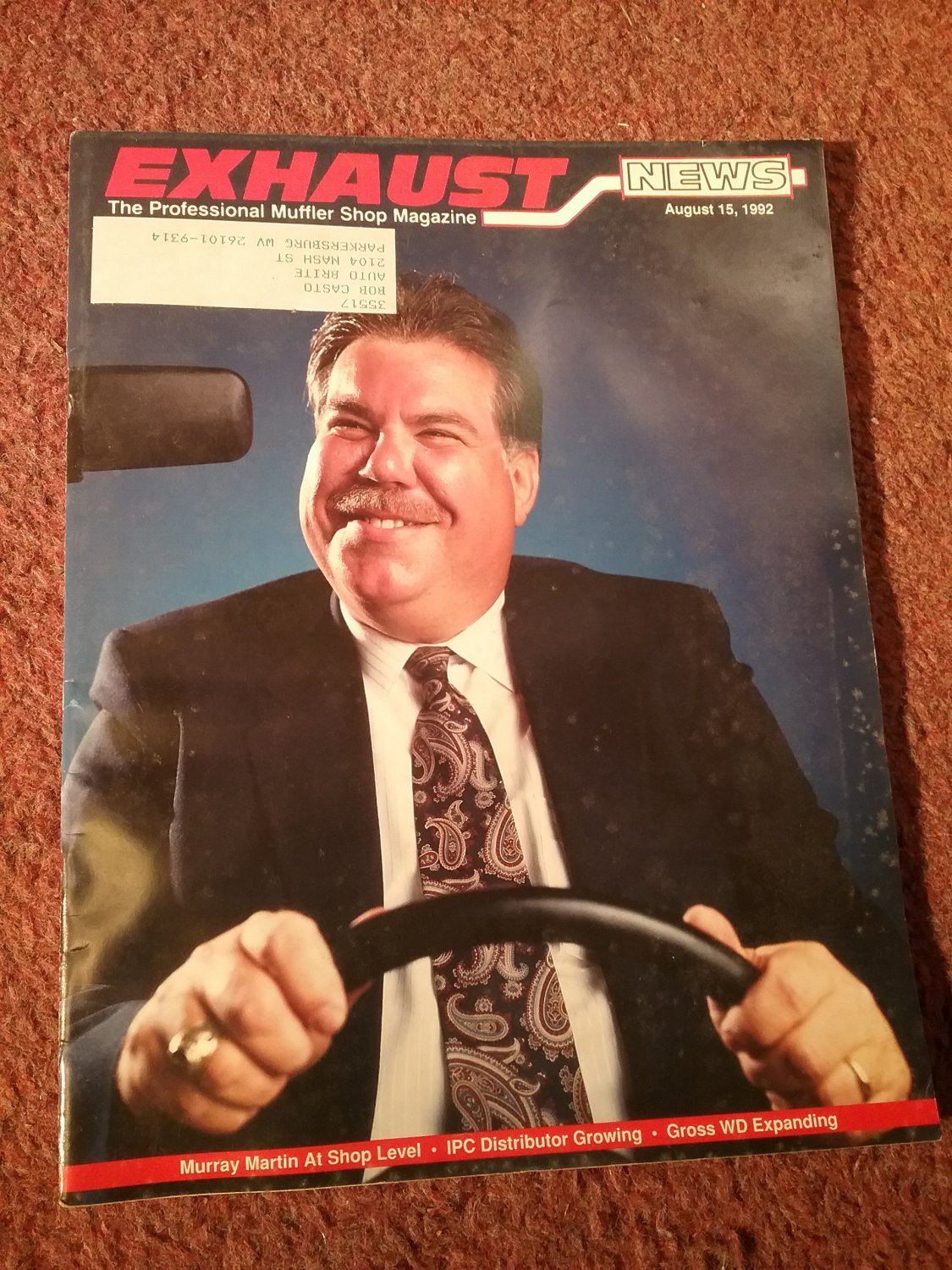 """Exhaust News Magazine August 15, 1992 H.R. 1790 """"Dead in the Water"""" 070716146"""