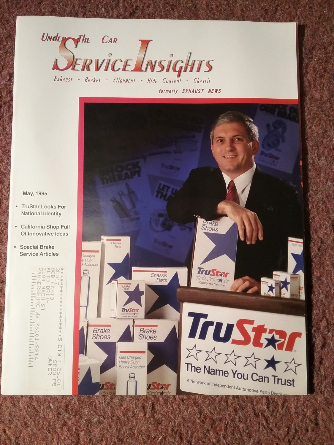 Under the Car Insights Magazine May  1995 Special Brake Service Article 070716176