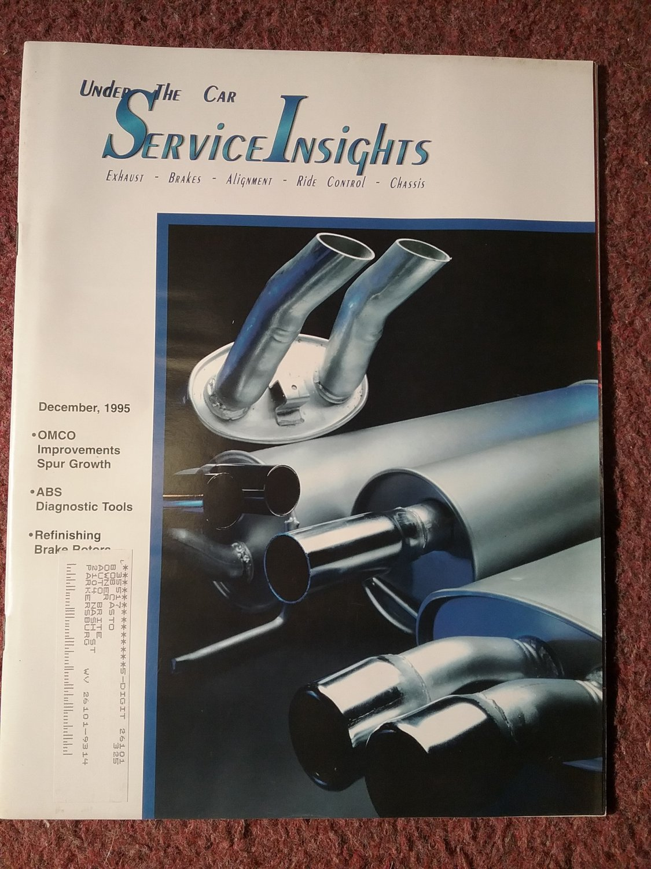 Under the Car Insights Magazine December 1995 Refinishing Rotors 070716181