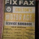 Vintage 1963 FIX FAX Chilton's Motor Age Serive Handbook 070716229
