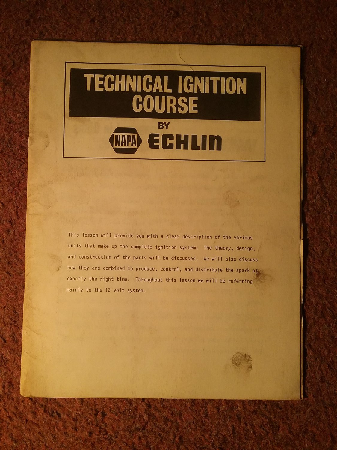 Vintage Echlin Technical Ignition Course AP-138-71  070716246
