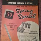 VintageSouth Bend Lathe Poster Catalog   070716253