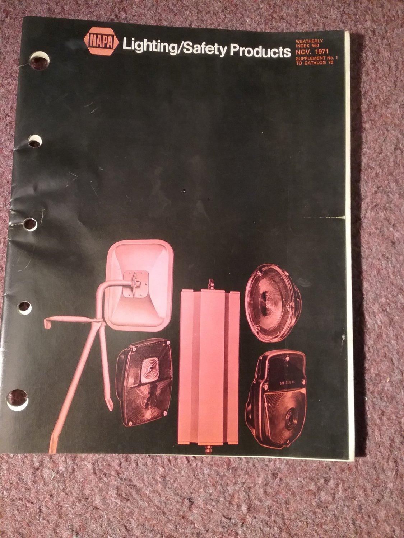 Vintage Nov 1971 Napa Lighting and Safety Products Catalog   070716292