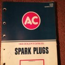 Vintage 1968 AC Spark Plugs Dealer Catalog  070716283