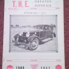 Vintage November. 1967 T.H.E. Greater Super Six Club Hudson Club 070716328