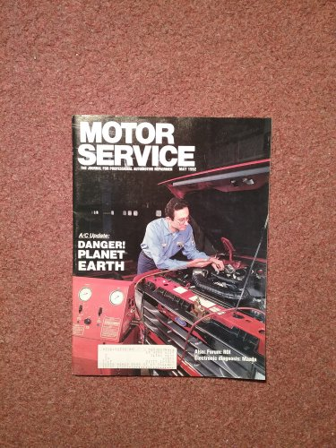 Vintage May 1992 Motor Service Magazine, Electronic Diagnosis: Mazda  070716365