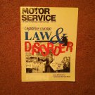 Vintage June 1992 Motor Service Magazine, Legislation  070716366