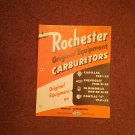 1952 Rochester Carburetors Parts Catalog with Bulletins 070716600