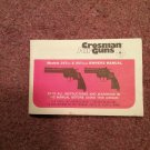 Crosman Air Gun Manual Model 357six & 357four 070716574