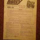 Vintage Hotsy Operating Manual and Parts List, Model 630 070716570