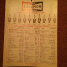 1967 Champion Spark Plug Part Catalog Hanger 1 page) 070716555