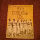 1976 Pirate's Official Scorebook, The Lumber Co, Great Ads  070716619