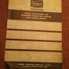 Vintage Sears Craftsman Typical Applications For Tool Benches and Pedestal Stands 070716623