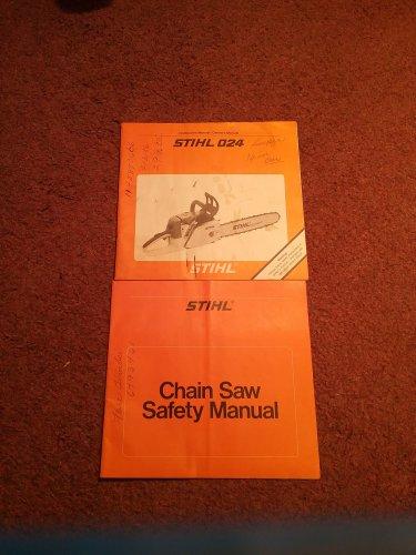 Stihl 024 AV Manual and Operating Instructions  070716625