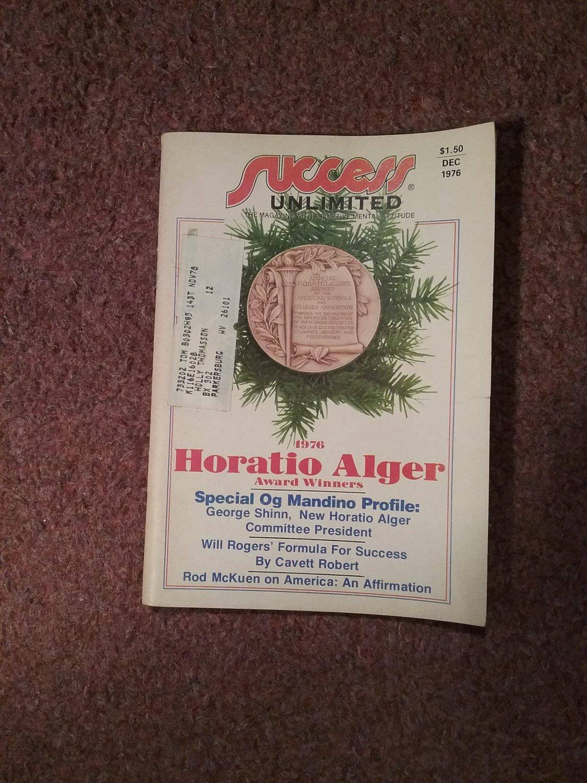 Sucess Magazine Unlimited, Dec, 1976, Horatio Alger 070716715
