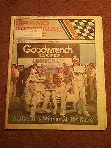 March 9, 1989 Grand National Scene Magazine  NASCAR  Wallace 070716665