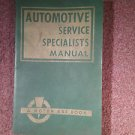 1956 Automotive Service Specialists, Labor Guide, Parts Etc 070716313