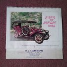 Vintage 1976 Album of Antique CarsCalendar, Local Ad, Parkersburg 070716455
