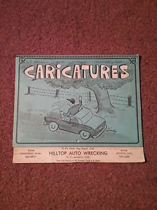 Vintage 1972 Brown and Bigelow Caricature Calendar, Local Ad  070716448