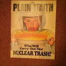 Plain Truth Magazine, April 1987 Nuclear Trash  70716806