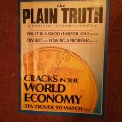 Plain Truth Magazine, Jan 1988 Cracks in The World Economy 70716807