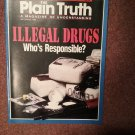 Plain Truth Magazine, Sept 1989 Ilegal Drugs, Who's Responsible  70716809