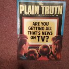 Plain Truth Magazine,  Oct 1986 Are You Getting All That's News on TV  70716817