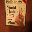 Plain Truth Magazine, March 1989 World Heath Care Crisis  70716810