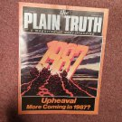 Plain Truth Magazine, Feb 1987 Upheaval More Coming in 1987? 70716820