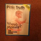 Plain Truth Magazine, September 1988 Where's Mommy? 70716828