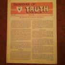 Guardian of Truth Magazine, May 19, 1983  Vol XXVII No 10,  070716980