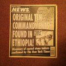 Weekly World News Magazine, March 24, 1998, Orginal 10 Commandments  707161073