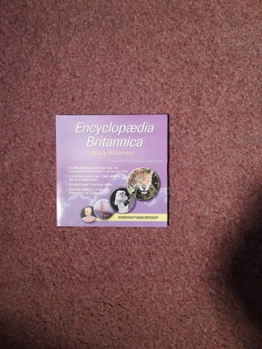 Encylcopedia Britannica CD ROM Ready Reference 0707161418