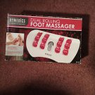 Homedics Dual ROLLING Foot MASSAGER Massage Rotating Red Vibration