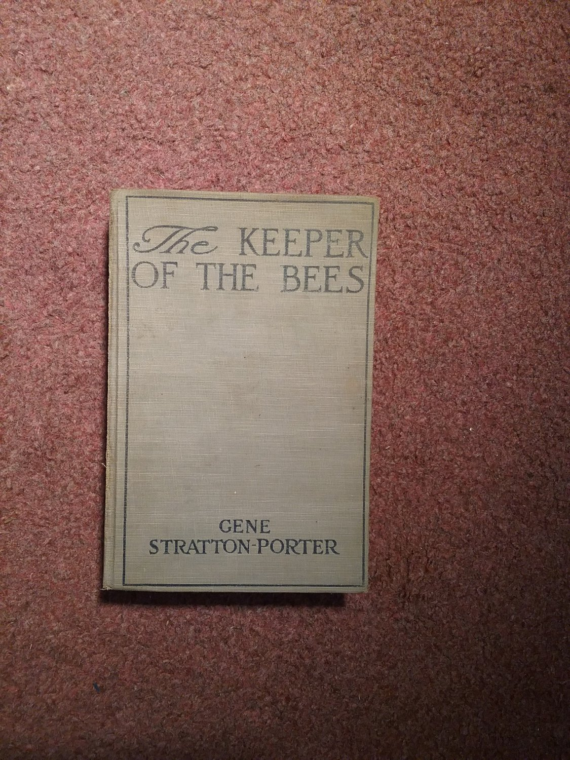 1925 The Keeper of The Bees, Gene Stratton-Porter  0707161497