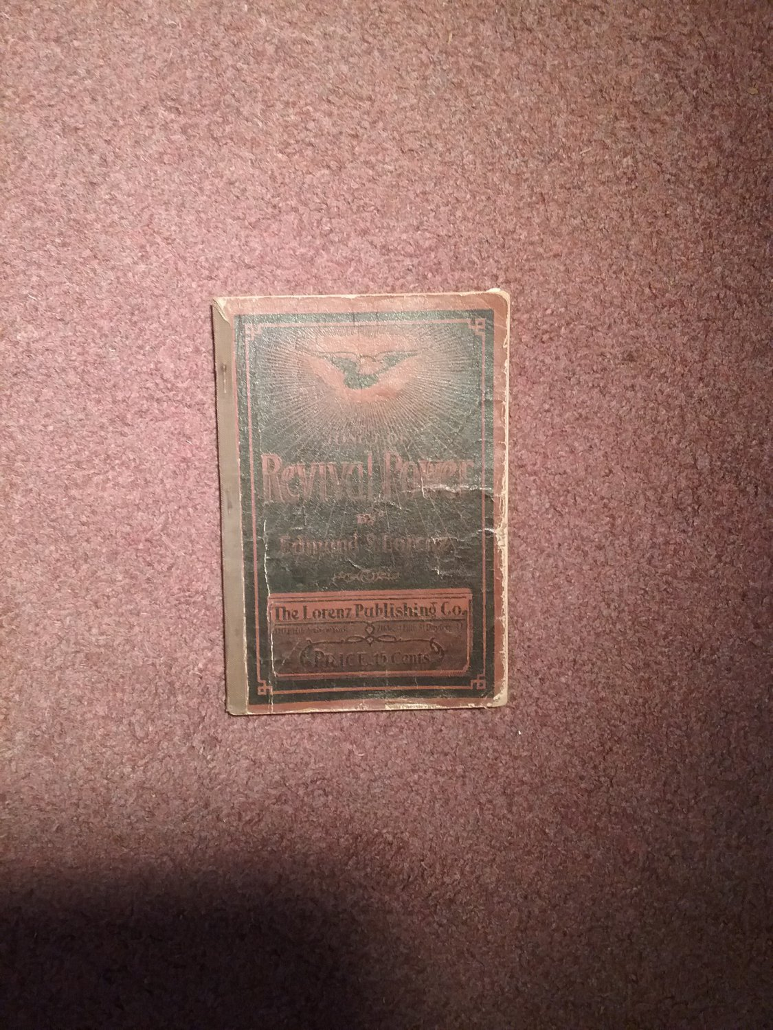 1907 Songs of Revival Power by Edmund Lorenz Hymnal  0707161496