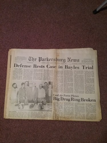 1976 The Parkersburg News, Parkersburg, West Virginia  Complete Morning 0707161607