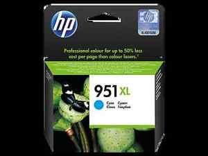 Ink Original HP 951XL Cyan CN046AN 951XL Officejet Pro 8620 8100 8610 ex 06/2018