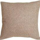 Pillow Decor - Herringbone Brown Square Decorative Toss Pillow
