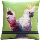 Pillow Decor - Cockatiel Birds Green Tapestry Throw Pillow
