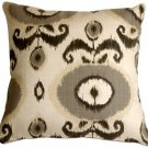 Pillow Decor - Bold Gray Ikat 20x20 Decorative Pillow  - SKU: VB1-0001-02-20