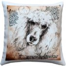 Pillow Decor - Poodle 17x17 Dog Pillow  - SKU: LE1-0030-01-17