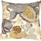 Pillow Decor - Harvest Floral Blue 20x20 Throw Pillow  - SKU: VB1-0022-01-20