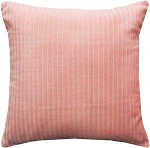 Pillow Decor - Cotton Corduroy Pastel Pink Throw Pillow 16x16