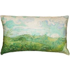 Pillow Decor - Van Gogh Green Wheat Fields Throw Pillow  - SKU: PD2-0067-01-92