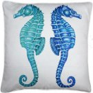 Pillow Decor - Capri Seahorse Reflect Throw Pillow 26x26  - SKU: TC1-3031-01-26